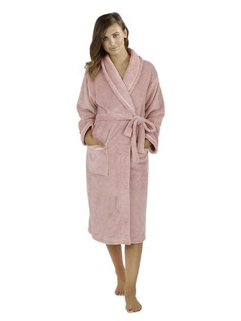 full length bathrobe womens full length fleece bath robe dressing gown