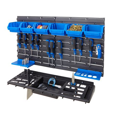 garage shed workshop wall tool storage rack kit inc tool
