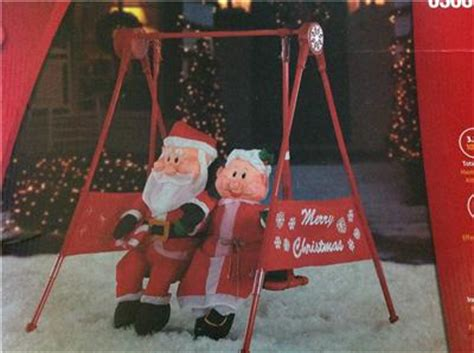 holiday for swing santa mrs claus porch swing animated motion outdoor