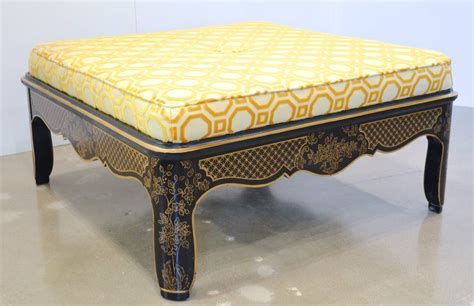 hollywood regency ottoman hollywood regency chinoiserie ottoman for sale at 1stdibs