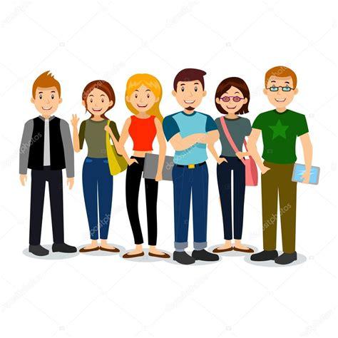 imagenes gratis estudiantes conjunto de diversos estudiantes de colegio o universidad