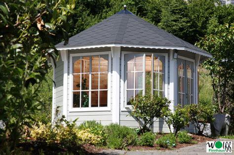 pavillon 8 eckig holz holz pavillon geschlossener mit panorama fenstern u