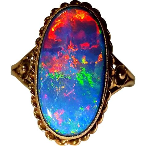black opal beautiful vintage black opal ring 6 25 from opheliagrace