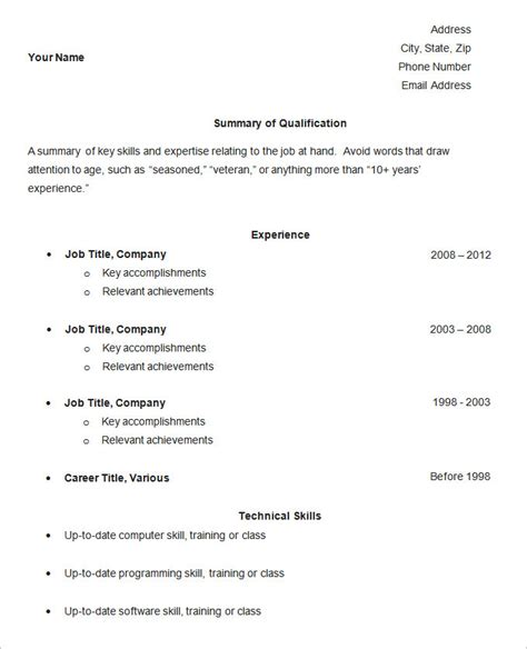 Easy Resume Template free easy resume templates simple basic sle res