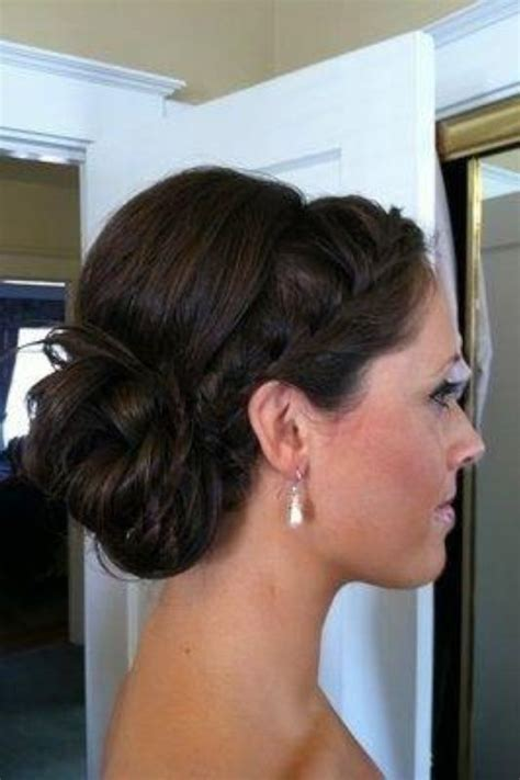 braided hairstyles with side bun braided side low bun wedding pinterest