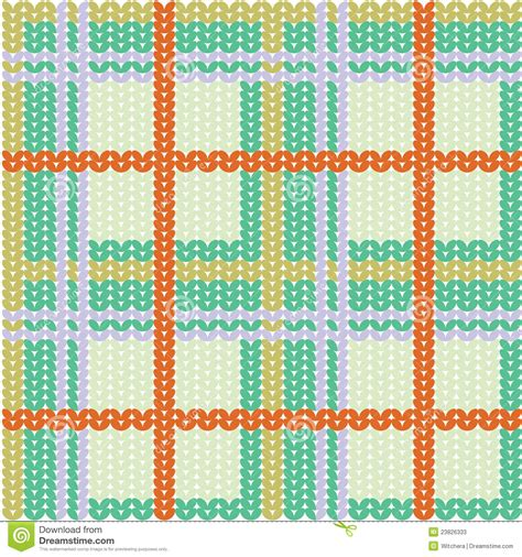 plaid pattern illustrator vector plaid pattern from knitted texture stock illustration