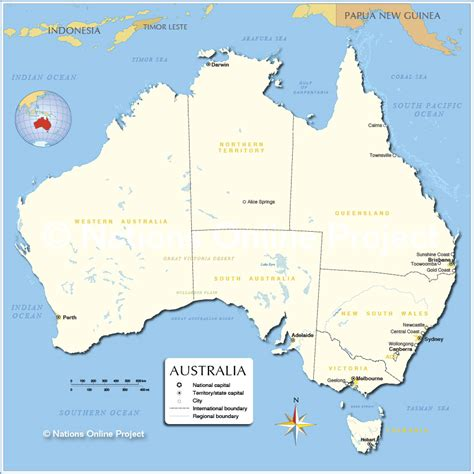 australia map with capital cities australia map with capitals