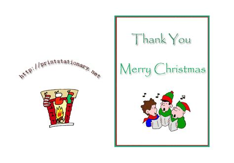 free printable thank you cards for employees printable thank you christmas cards to color for free