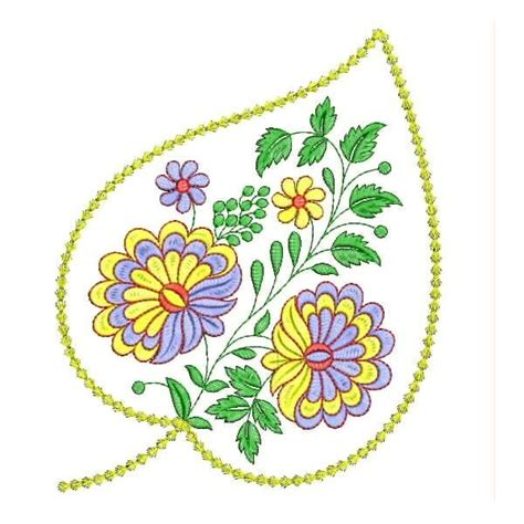 flower pattern embroidery design leaf flower embroidery designs