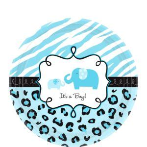 Blue Safari Baby Shower by Blue Safari Baby Shower Dessert Plates 18ct City