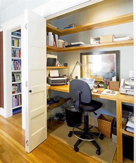 Office Desk In Closet Tips For Organizing Your Home Office