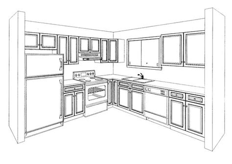 L Shaped Kitchen Layouts With Island kitchen perspective drawing like success
