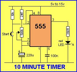 how to use a capacitor as a timer talking electronics 555 page3