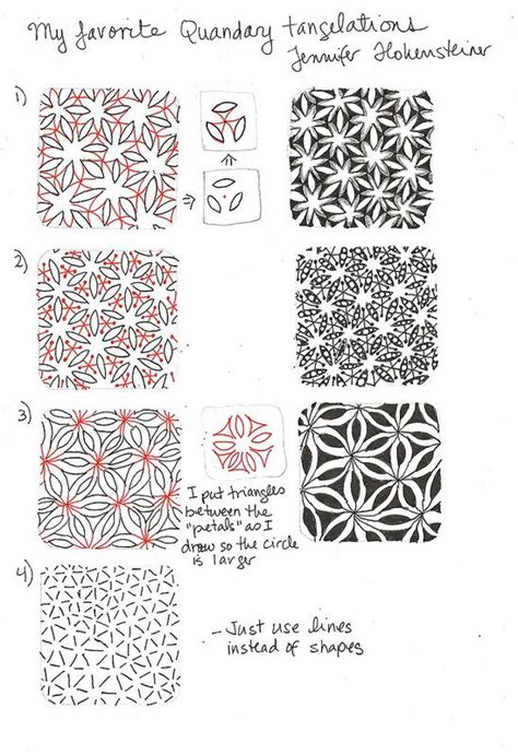 zentangle pattern quandary quandary tangelations tangled 2 pinterest photos