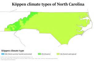 carolina temperature map climate of carolina