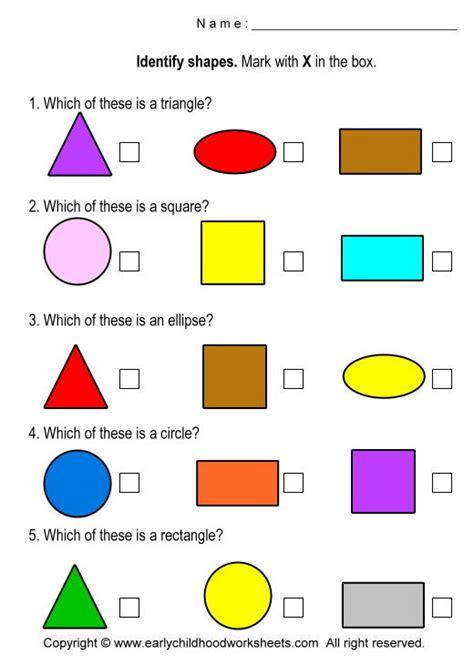 free printable identifying shapes worksheets free printable shapes worksheets shapes pinterest