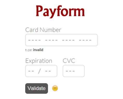 Credit Card Format Css Payform Javascript Library For Building Credit Card