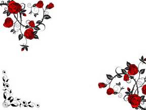 red rose flower ppt backgrounds black flowers red