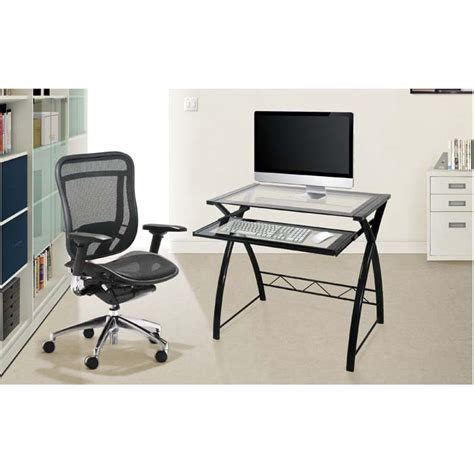 Curved Computer Desks Bello Glass Computer Desk With Curved Sides High Gloss Black Cd8855