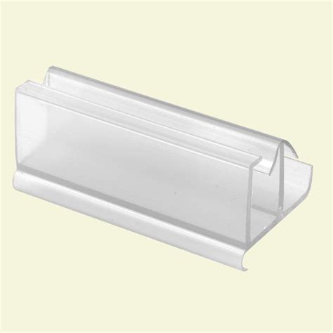 Plastic Sliding Shower Doors Prime Line Sliding Tub Enclosure Plastic Bottom Guides 2 Pack M 6059 The Home Depot