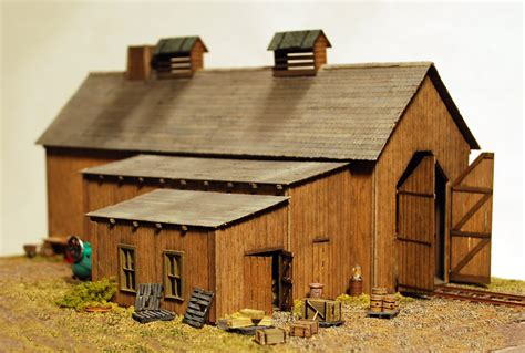engine house model railroad fine craft kits by builders in scale ho laserwood kits key page