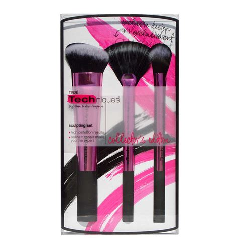 real techniques fan brush real techniques sclupting set box of beauty