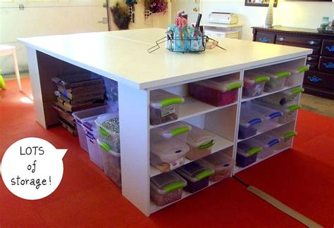 Craft Tables With Storage Attempting To Organize Your Diy Craft Desk With Storage