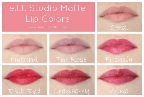 matte lip color e l f matte lip color lip swatches coral tea