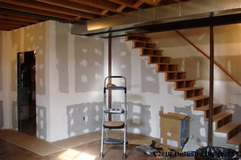 basement contractor before after
