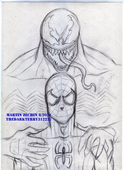 imagenes de spiderman para dibujar a lapiz dibujos a l 225 piz de venom dibujos a lapiz