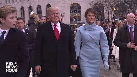 donald j trump inauguration day white house magnet trump family waves to the crowd during inauguration day