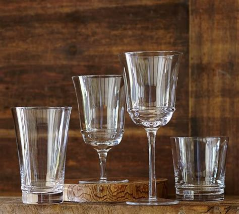 Pottery Barn Barware Verona Glassware Set Of 6 Pottery Barn