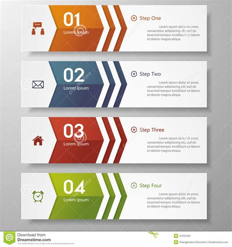 clean graphic design layout design clean number banners template graphic vector