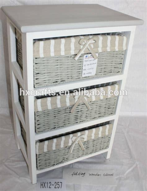 meuble tiroir panier polyvalent meuble de salle de bain rangement 3 osier rotin