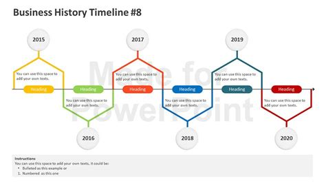 free powerpoint timeline template business history timeline editable powerpoint template