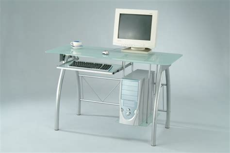 Frosted Glass Computer Desk by Sam Yi Furniture Manufacturer In Dining Room Chair Home