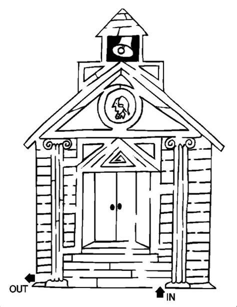 printable school house school house maze nuttin but preschool