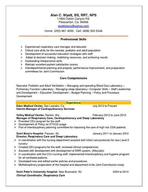 resume templates respiratory therapist 1 - Sample Resume For Respiratory Therapist