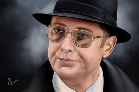 Topi Fedora Hat Painter Black List spader as raymond reddington by nowhereman78 on deviantart