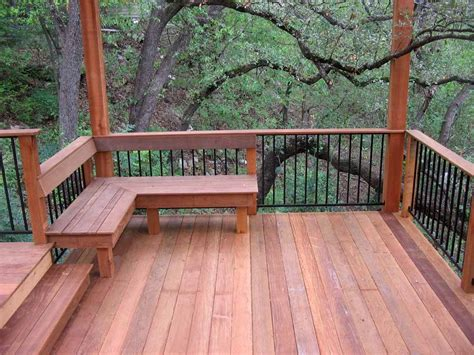 deck railing bench design plans deck railing designs cement patio