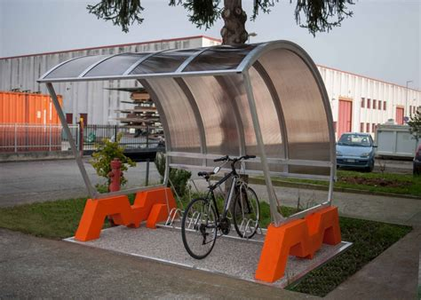 tettoia biciclette pensiline per biciclette antipioggia bergamo