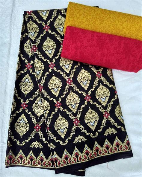 Kain Batik Prada Embos 9i0 kain batik pekalongan batik prada motif cemara kombinasi