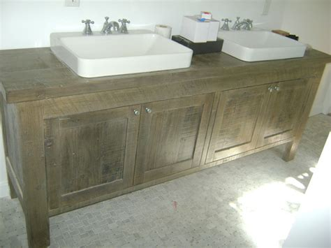 reclaimed wood bathroom vanity contemporary bathroom los angeles upstairs downstairs furniture