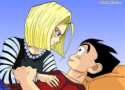 android 18 and krillin krillin and 18 relax by arkantos84 on deviantart