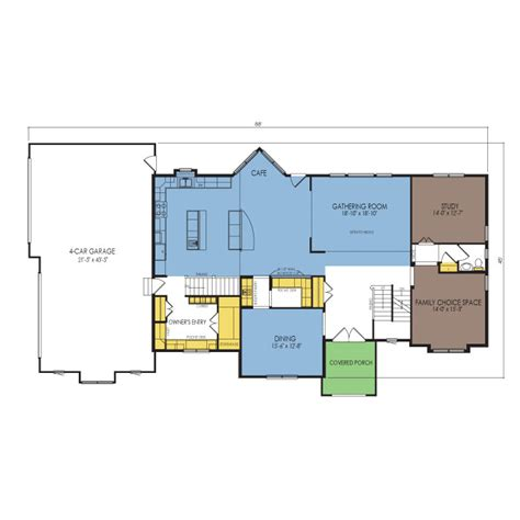 newcastle floor plan 4 beds 3 5 baths 4115 sq ft