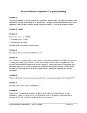 supplement 7 capacity and constraint management forecasting problems in class problems chapter 4