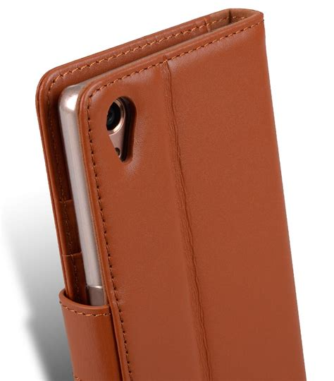 Melkco Premium Leather Wallet With Card Slot Sony Xperia Z sony xperia xa mobile cases cellphone genuine