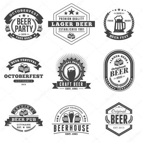 imagenes retro en blanco y negro conjunto de chapas de cerveza vintage retro etiquetas