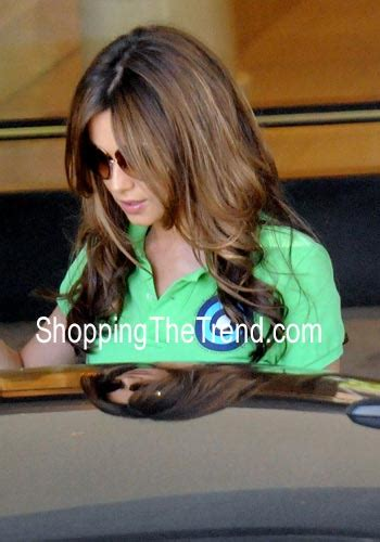 where does cheryl burton buy her clothes cheryl cole in la buy her green polo shirt online