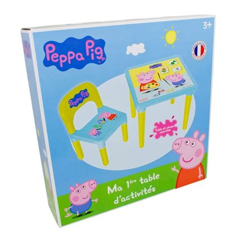peppa pig table and chairs peppa pig activity iml printed table chair set for only